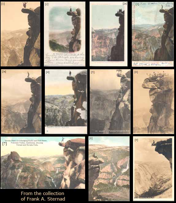 Yosemite's Hanging Rock Postcards 1- 9