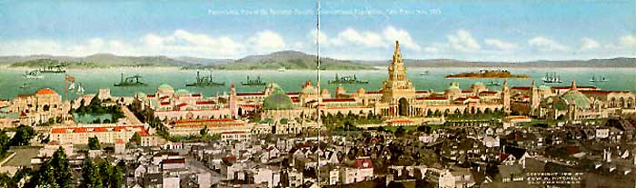 Day Panorama of Panama Pacific International Exposition 1915